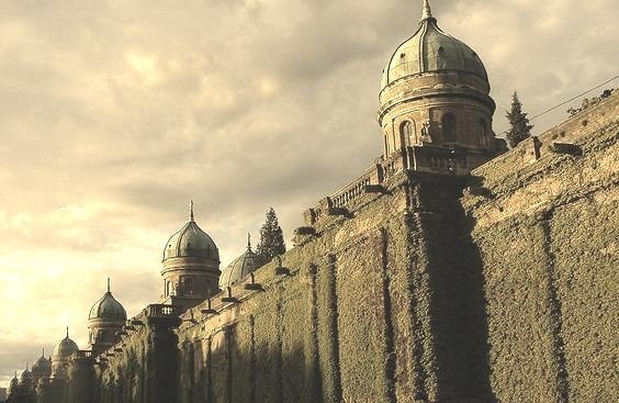 by Vjekoslav1 on Flickr.The walls of Mirogoj Cemetary in Zagreb, Croatia.