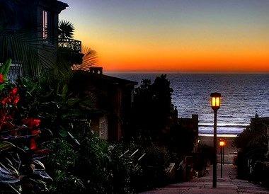 Sidewalk Sunset, Manhattan Beach, California
