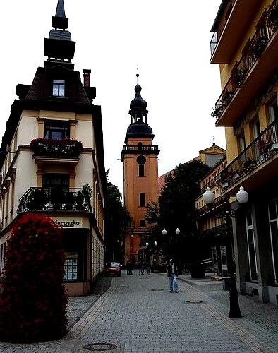 Baroque architecture in Jelenia Gora, Lower Silesia, Poland