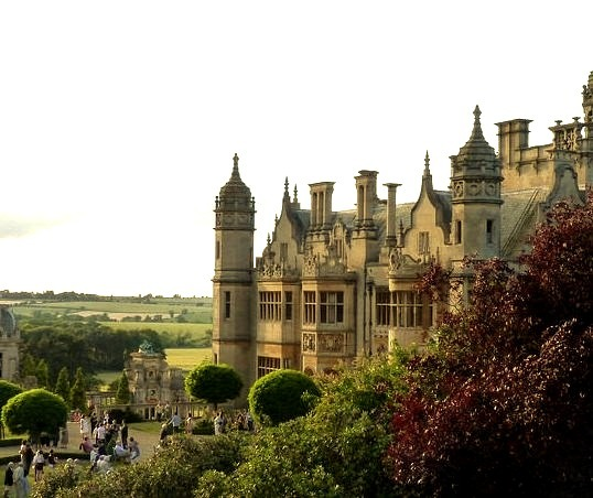 Harlaxton Manor in Lincolnshire, England