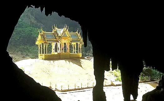 The throne pavilion in Phraya Nakhon Cave, Khao Sam Roi Yot National Park in Thailand