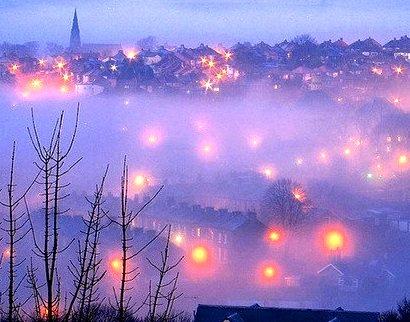 Foggy Night, Burlington Vermont