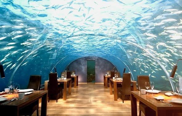 Ithaa undersea restaurant at Conrad Rangali Island, Maldives