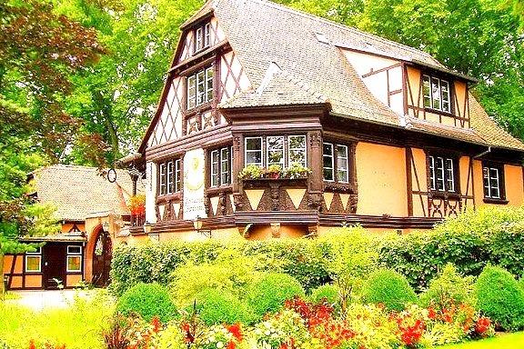 House garden in Strasbourg, France
