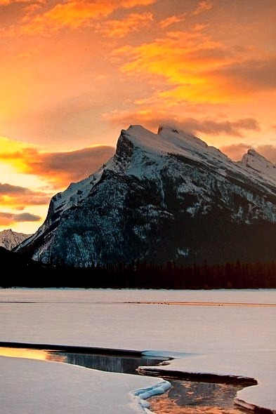 Mount Rundle in Banff National Park, Canada