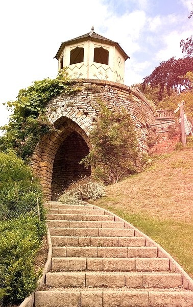 Garden folly at Belvoir Castle in Leicestershire, England