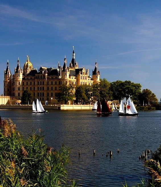 The home of the dukes of Mecklenburg, Schwerin Castle, Germany